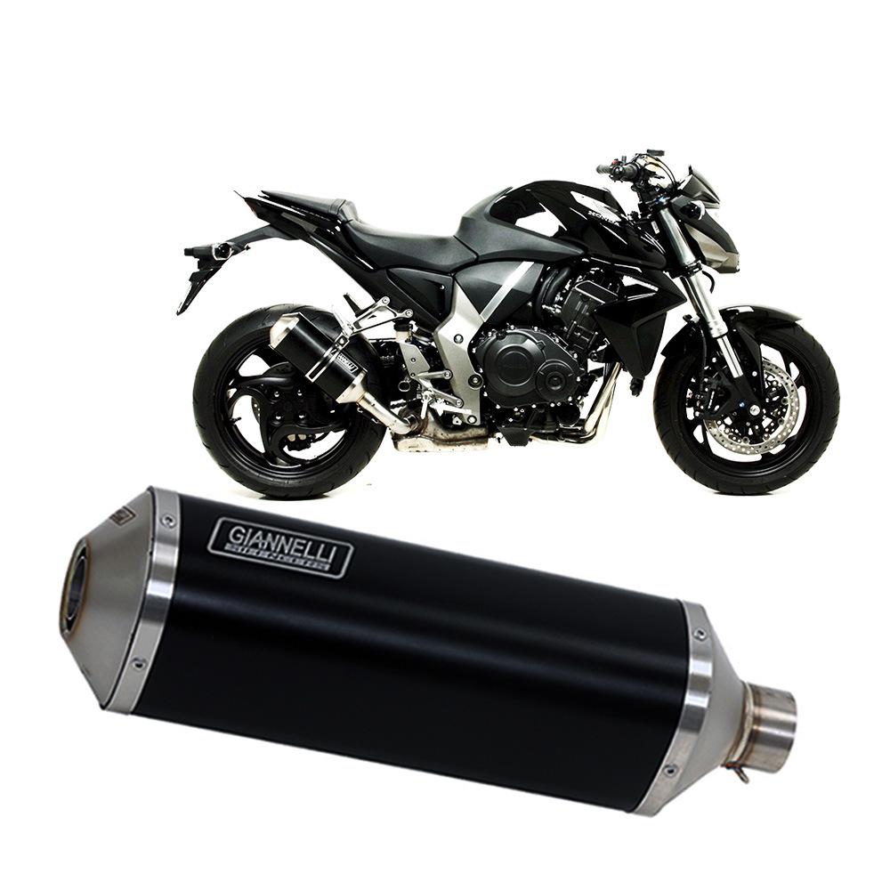 Terminale Scarico Giannelli Ipersport Alluminio Nero Honda CB 1000 R 2008 > 2016