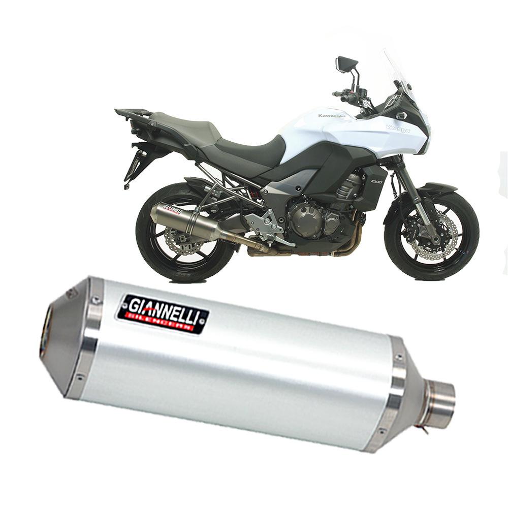 Terminale Scarico Giannelli Ipersport Alluminio Kawasaki VERSYS 1000 2012 > 2014