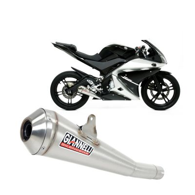 73414GXK Scarico Completo Giannelli Terminale in Nichrom per YAMAHA YZF-R 125 2008 > 2013