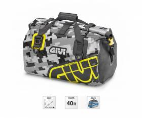 GIVI EA115CM waterproof saddle bag 40 lt, gray / yellow