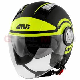 Givi Helmet Man Air Jet 11.1 Grafica Jet Black - Yellow Fluo H111FRDBY