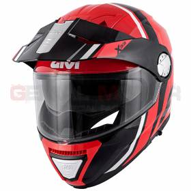 Givi Helmet Man X33 Canyon Division Flip-up Red - Black HX33FDVRB