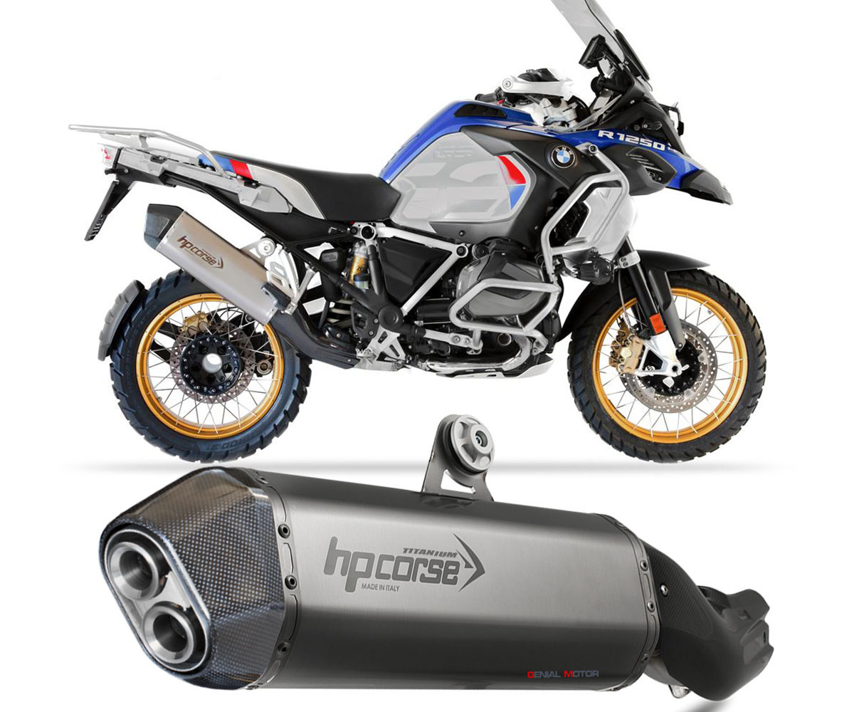 BMWSPS1025S-AB Exhaust Muffler Hpcorse Sps Carbon Stainless Steel Bmw R 1250 Gs Adventure 2019 > 2021