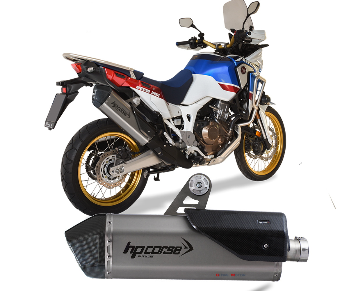 Hosps1022s Ab Exhaust Muffler Hpcorse Sps Carbon Stainless Steel Honda Crf 1000 Africa Twin 2016