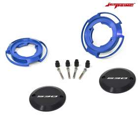 Pair Crankcase protection jetprime color blue for Yamaha XP 530 T-MAX 2017 > 2019