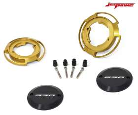 Pair Crankcase protection jetprime color gold for Yamaha XP 530 T-MAX 2017 > 2019
