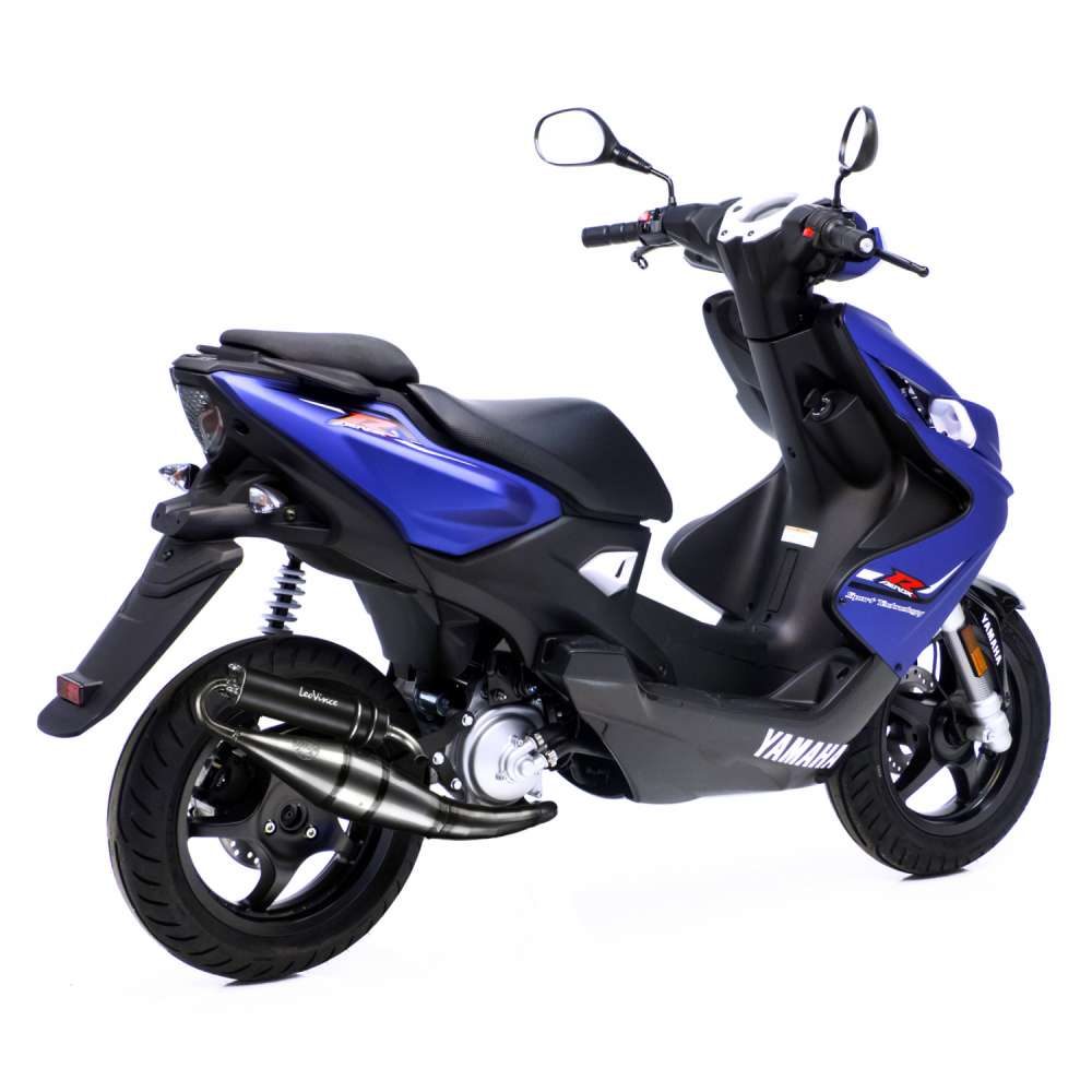4054B Echappement Complete Leovince HM Tt Noir Alu Yamaha Aerox 50 R/Naked 2013 > 2020