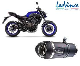 Full System 2/1 Leovince LV ONE EVO BLACK approved YAMAHA MT-07 2017 > 2020 14251EKB