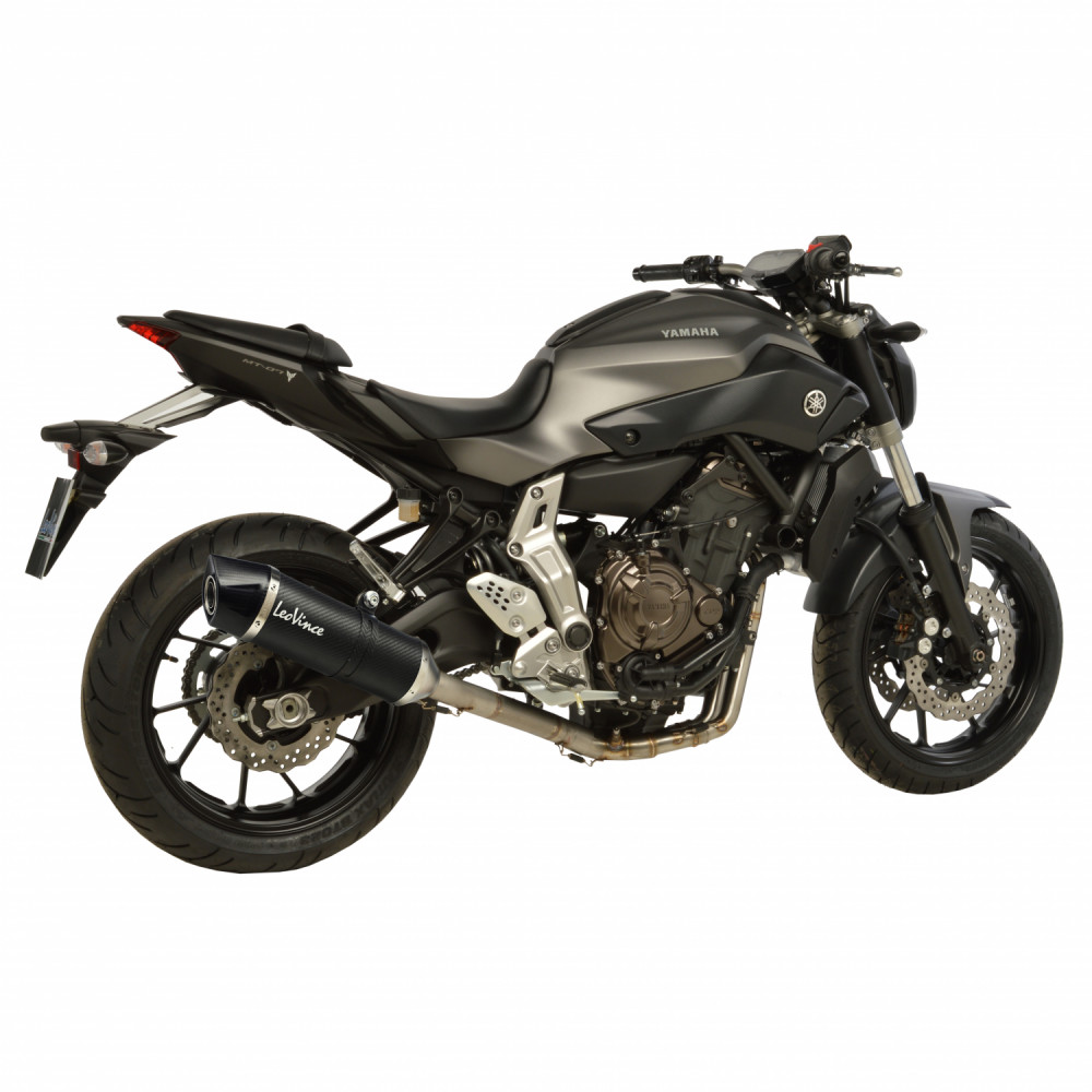 14105E Echappement Complete Leovince Lv One Evo Carbone Yamaha Mt 07/Fz 07 2014 > 2016