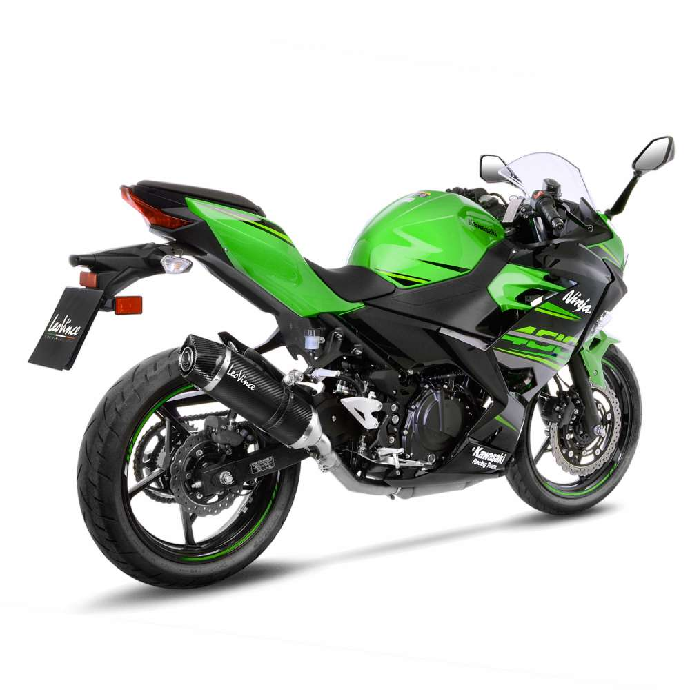 14260E Pot D'Echappement Lv One Evo Carbone Kawasaki Ninja 400 2018 > 2021
