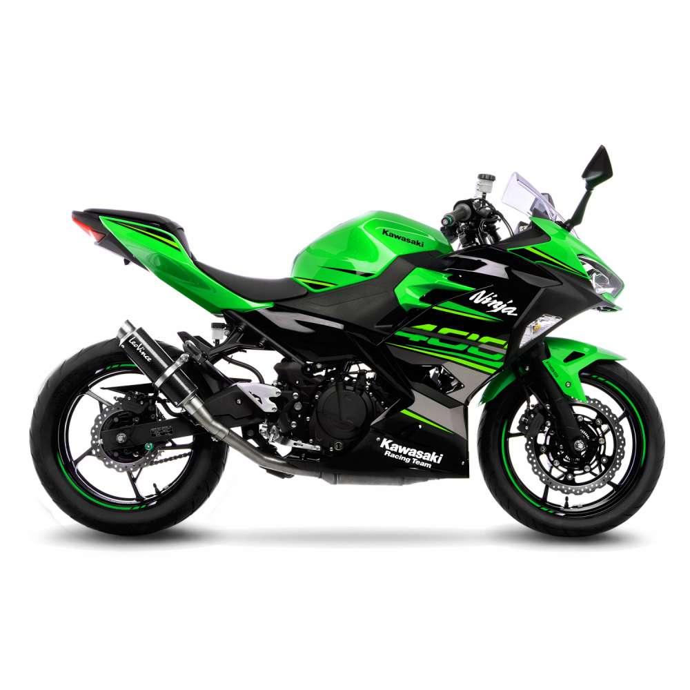 3389 Pot D'Echappement Gp Corsa Carbone Kawasaki Ninja 400 2018 > 2020