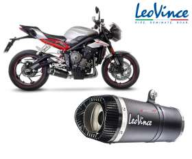 Exhaust Leovince LV ONE EVO CARBON Racing TRIUMPH STREET TRIPLE 765 S 2017 > 2019 14289E