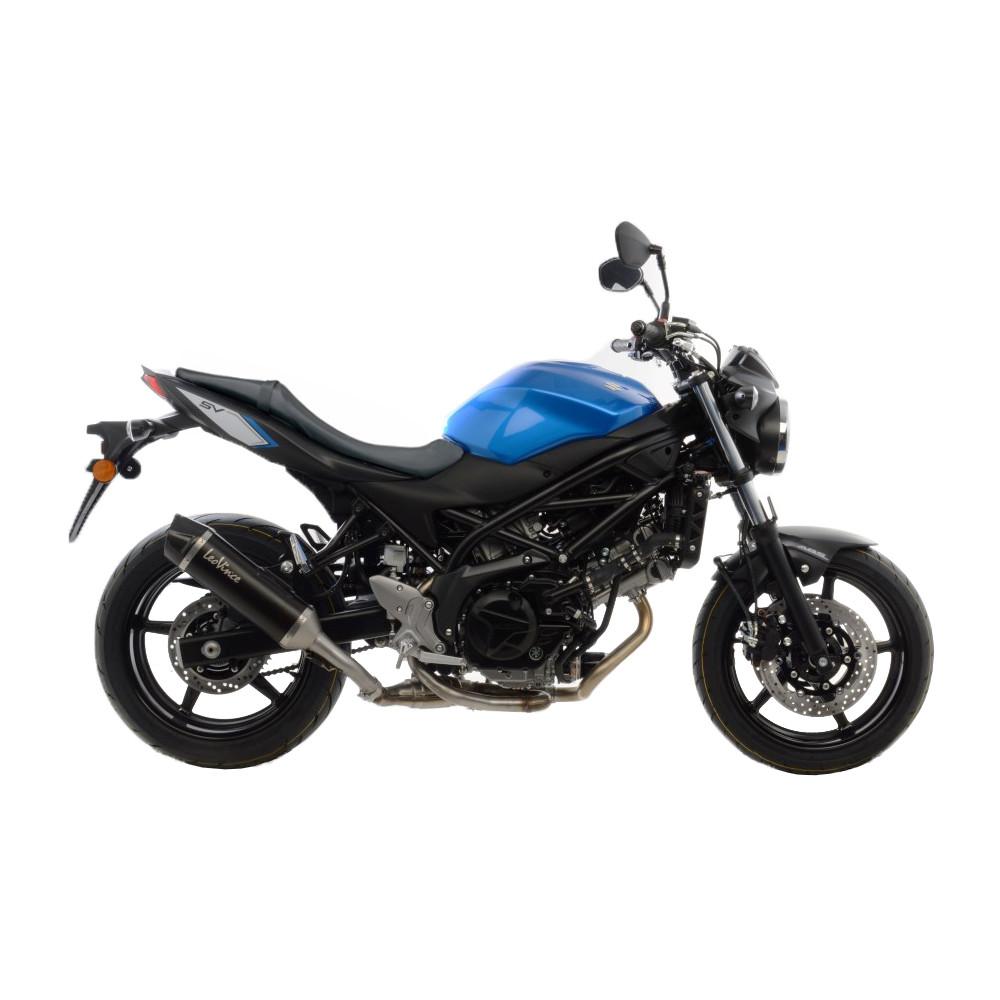 14031 Pot D'Echappement Noir Acier Suzuki Sv 650 X Abs 2018 > 2021