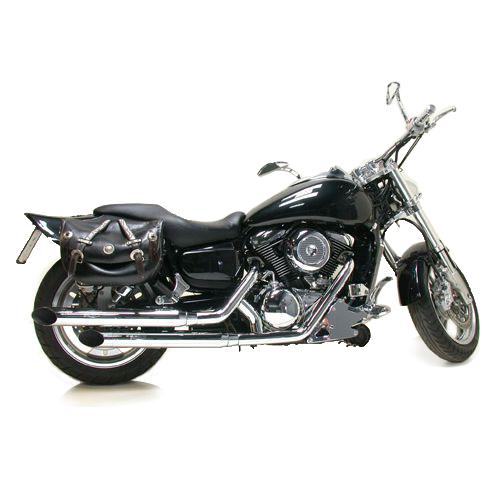 2286 Echappement Complete Leovince K02 Chromed Kawasaki Vn 1500 Classic 1996 > 1999