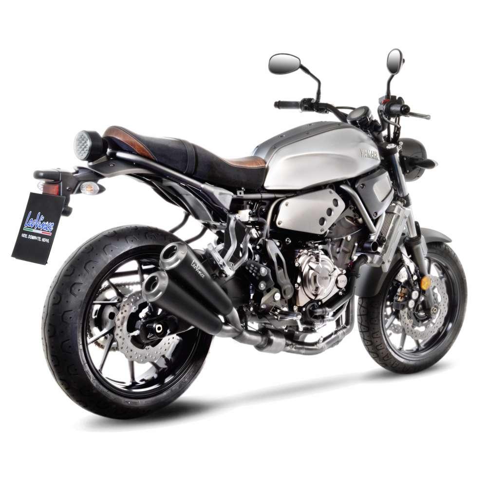 15109K Echappement Complete Kat Leovince Gp Duals Acier Yamaha Xsr 700 2016 > 2021