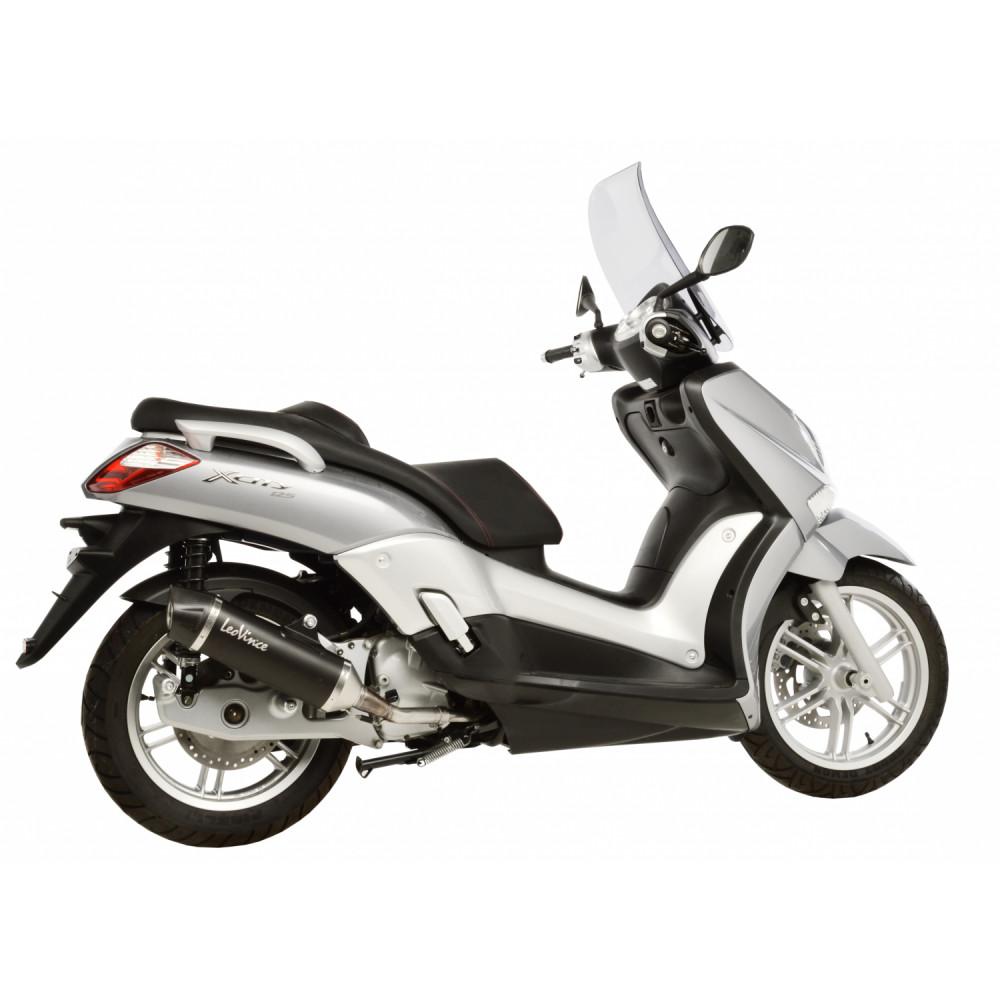 14023 Pot D'Echappement Noir Acier Yamaha X City 125 2006 > 2016