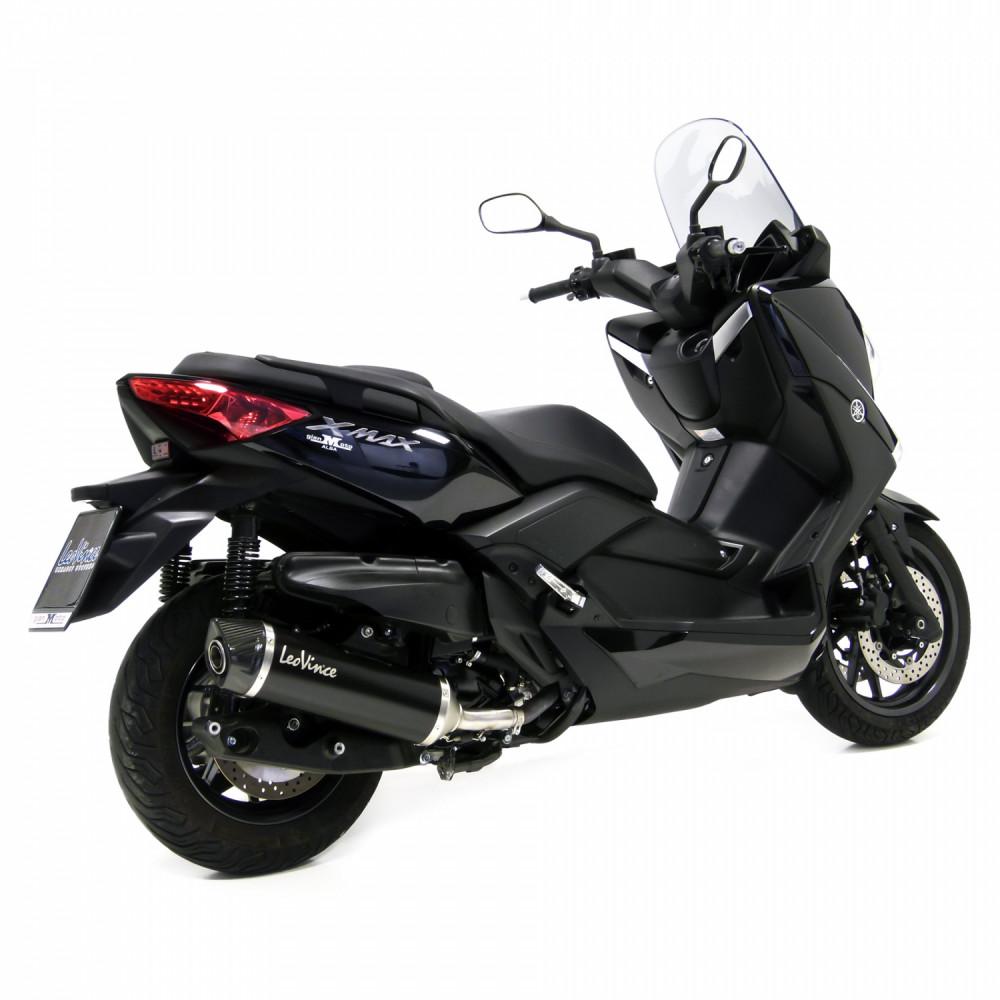 14001 Pot D'Echappement Noir Acier Yamaha X Max 400 2013 > 2016