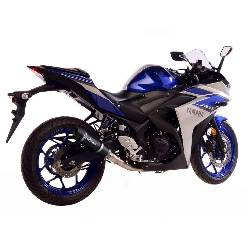 3380E Echappement Complete Leovince Gp Corsa Evo Carbone Yamaha Yzf R25 2014 > 2021
