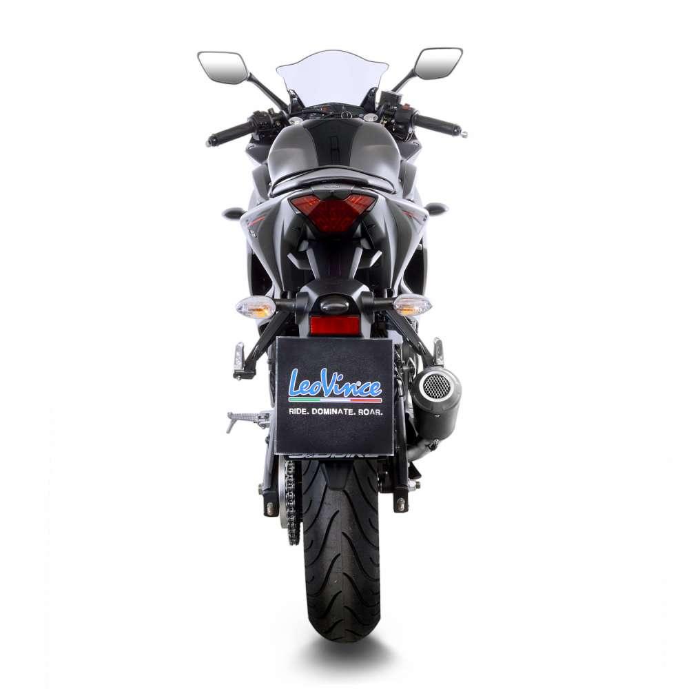 15212B Pot D'Echappement Lv-10 Noir Acier Yamaha Yzf R3 2018 > 2020