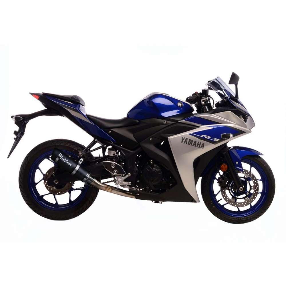 3380E Echappement Complete Leovince Gp Corsa Evo Carbone Yamaha Yzf R3 2015 > 2020
