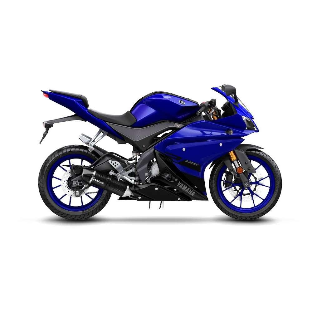 14262E Echappement Complete Leovince Lv One Evo Carbone Yamaha Yzf R 125 2017 > 2020