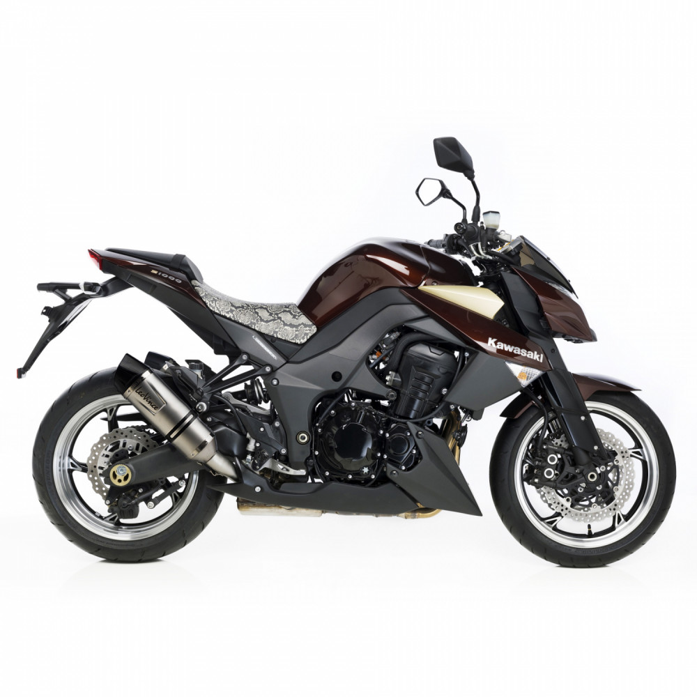 8412E 2 Pots D'Echappement Leovince Lv One Evo Acier Kawasaki Z 1000 2010 > 2016