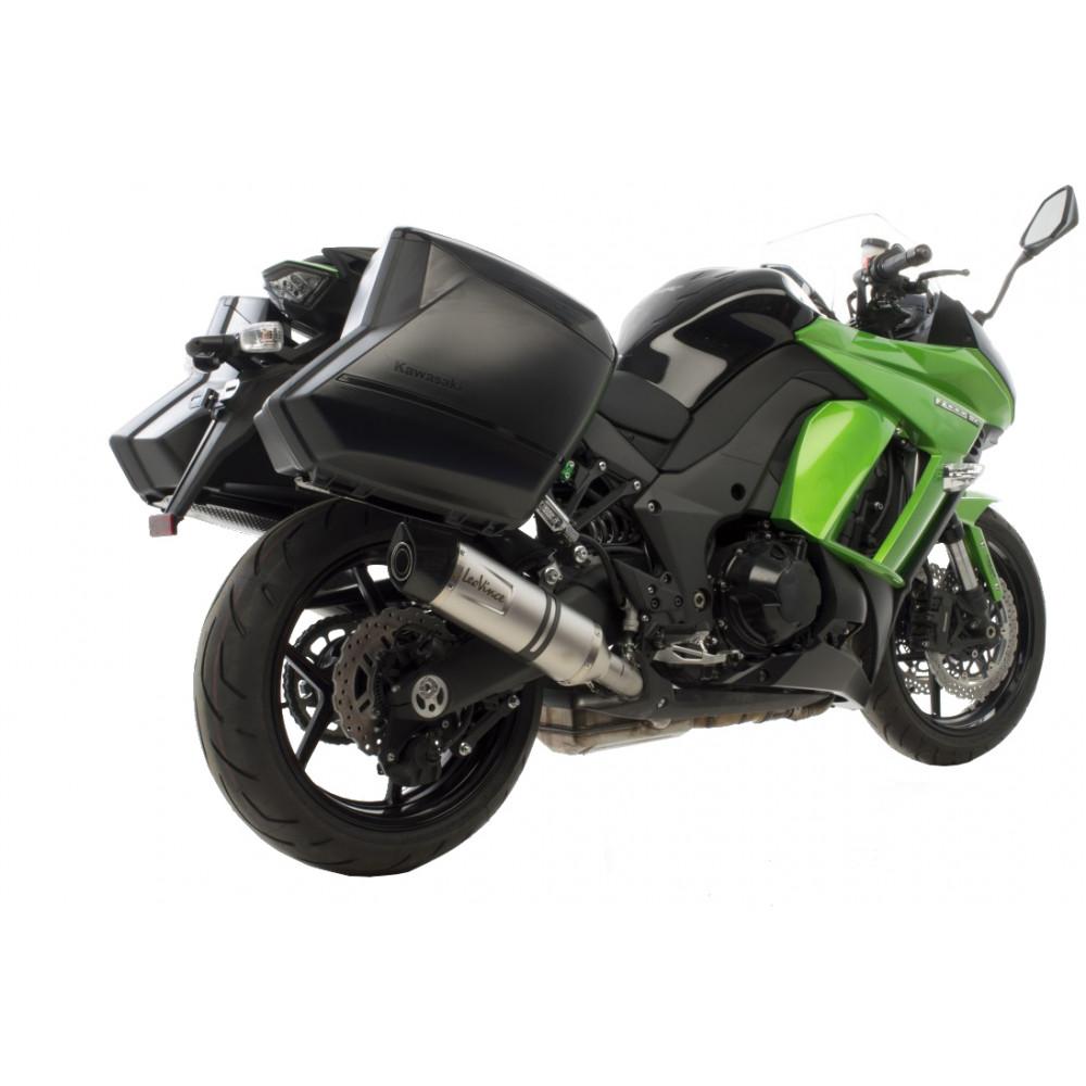 14144E 2 Pots D'Echappement Leovince Lv One Evo Acc Kawasaki Z 1000 Sx 2014 > 2016