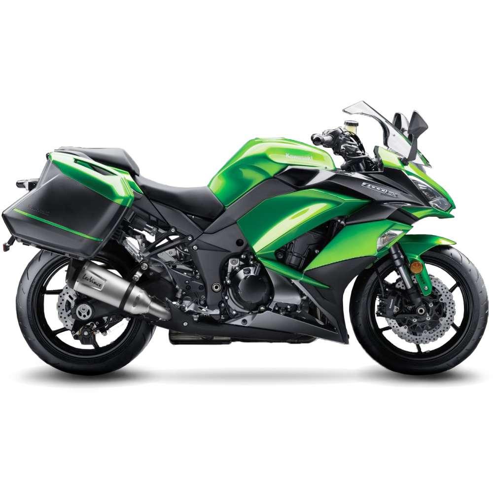 14223S 2 Pots D'Echappement Leovince Factory S Acier Kawasaki Z 1000 Sx 2017 > 2020