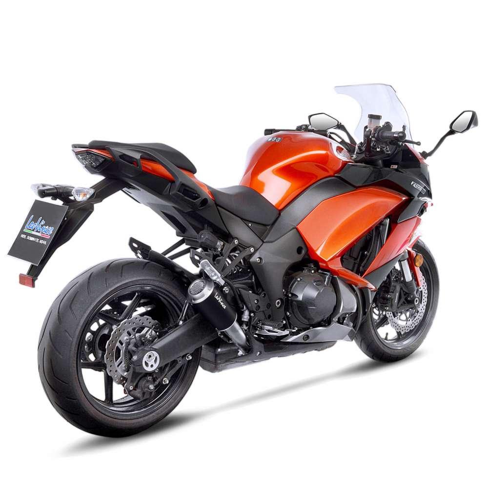 15209B 2 Pots D'Echappement Leovince Lv-10 Noir Acc Kawasaki Z 1000 Sx 2017 > 2020
