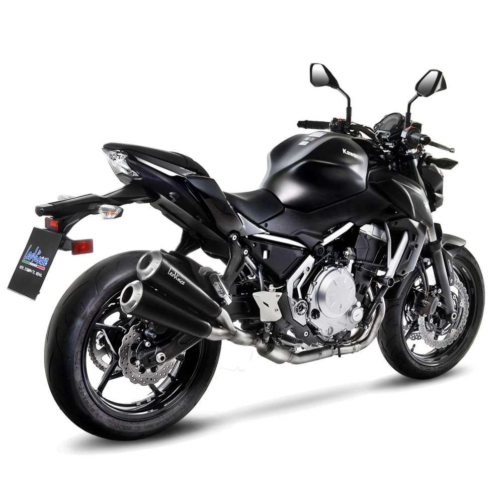 15113K Echappement Complete Kat Leovince Gp Duals Acier Kawasaki Z 650 2017 > 2021