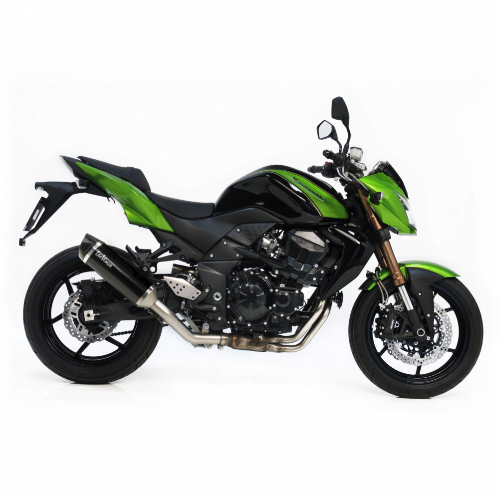14007 Pot D'Echappement Noir Acier Kawasaki Z 750 R 2011 > 2014