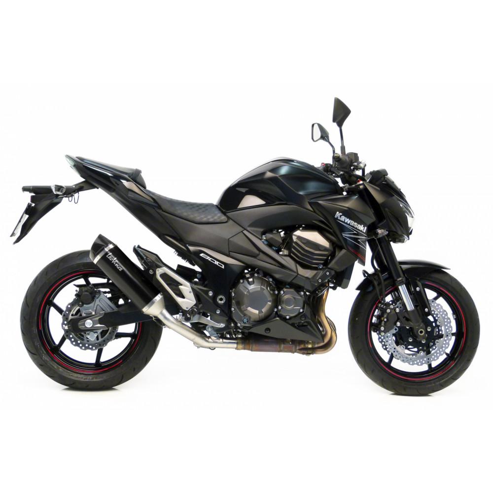 14008 Pot D'Echappement Noir Acier Kawasaki Z 800 2013 > 2016