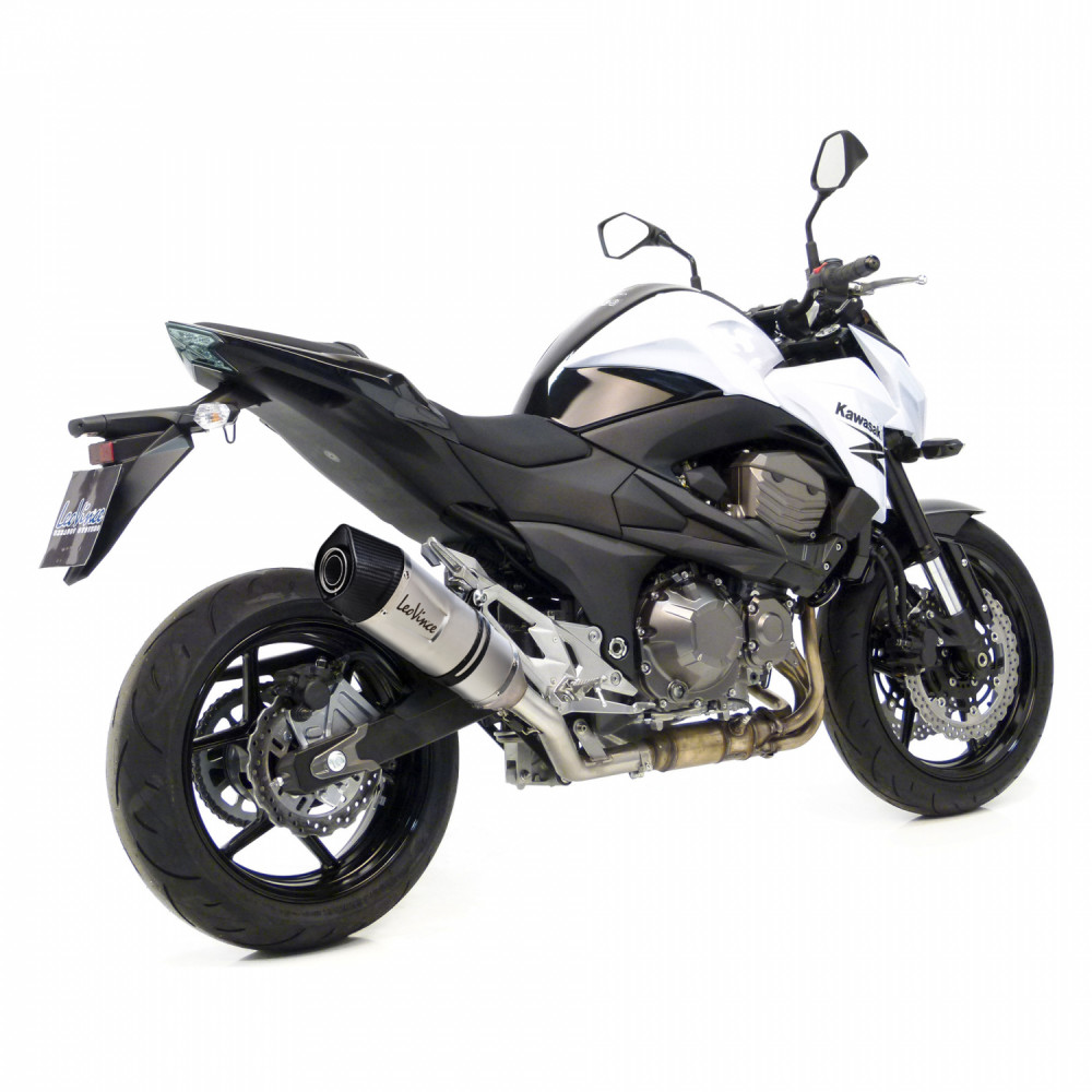 8782E Pot D'Echappement Lv One Evo Acier Kawasaki Z 800 E 2013 > 2016