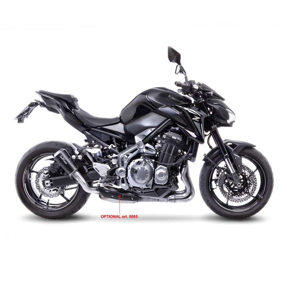 15204B Pot D'Echappement Lv-10 Noir Acier Kawasaki Z 900 2017 > 2020