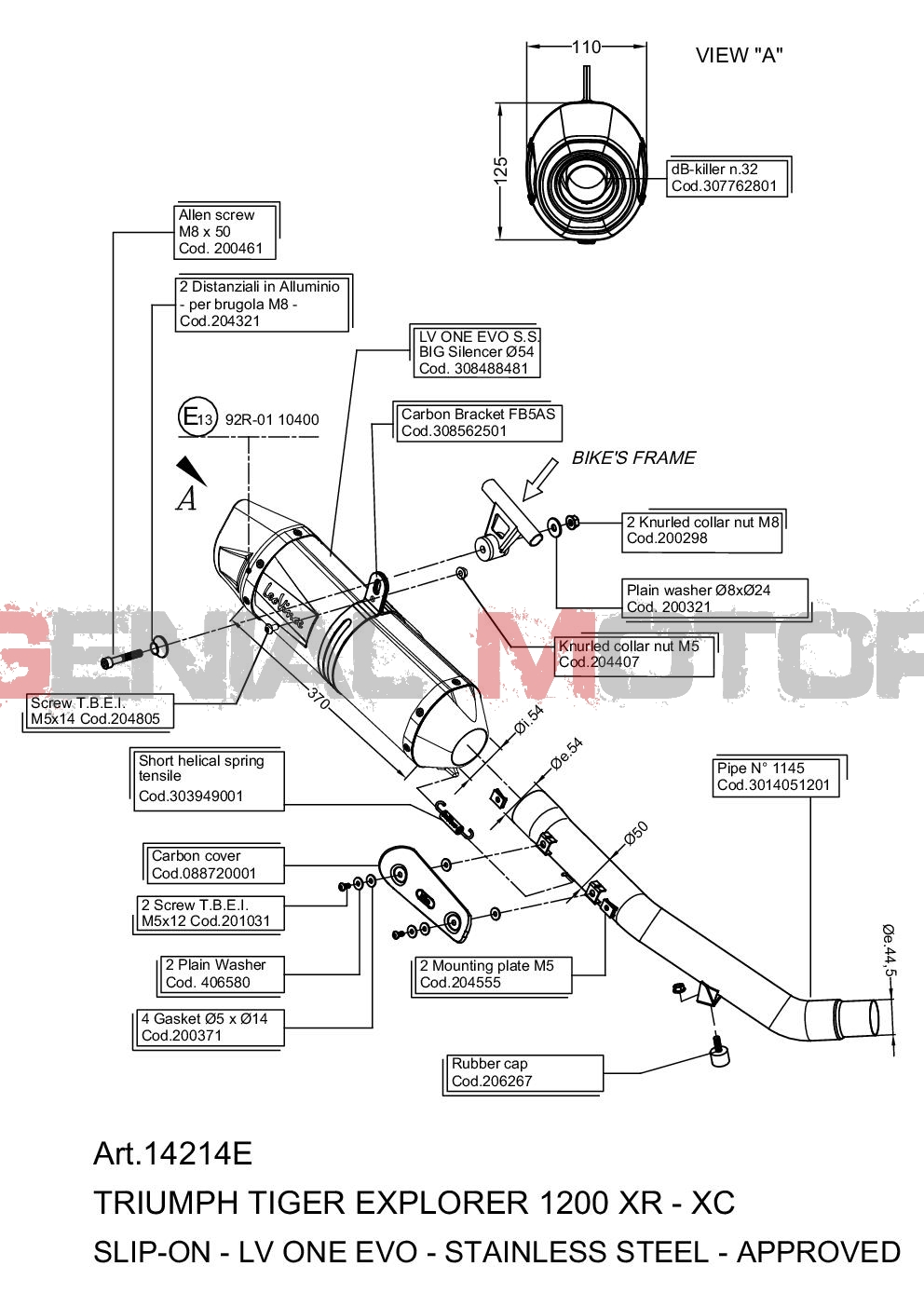 PIAGGIO APE CAR//APE 601  LEOVINCE KOMPLETT AUSPUFFANLAGE SITO STAHL 0226