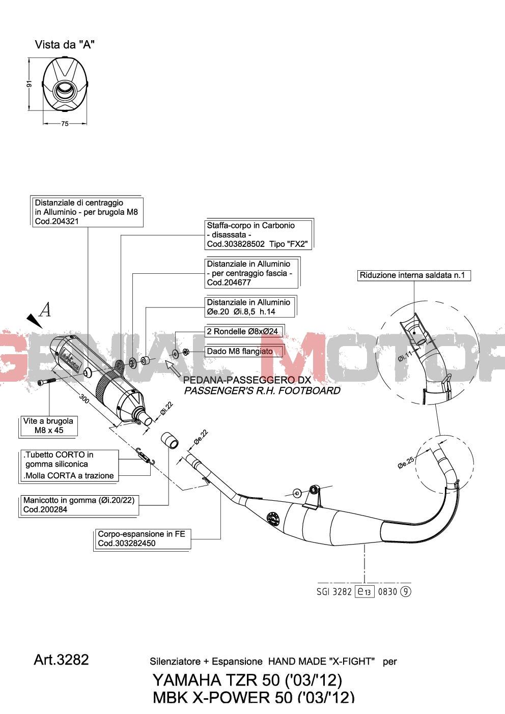 Komplett Auspuff Leovince X-Fight Stahl Yamaha Tzr 50 2010 10