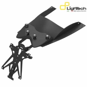 LIGHTECH Adjustable Approved License Plate Holder TARYA112B1 Yamaha T-Max 500 2008 > 2011
