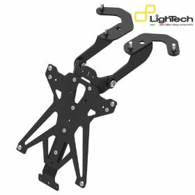 LIGHTECH Adjustable Approved License Plate Holder TARYA113B3 Yamaha T-Max 500 2008 > 2011