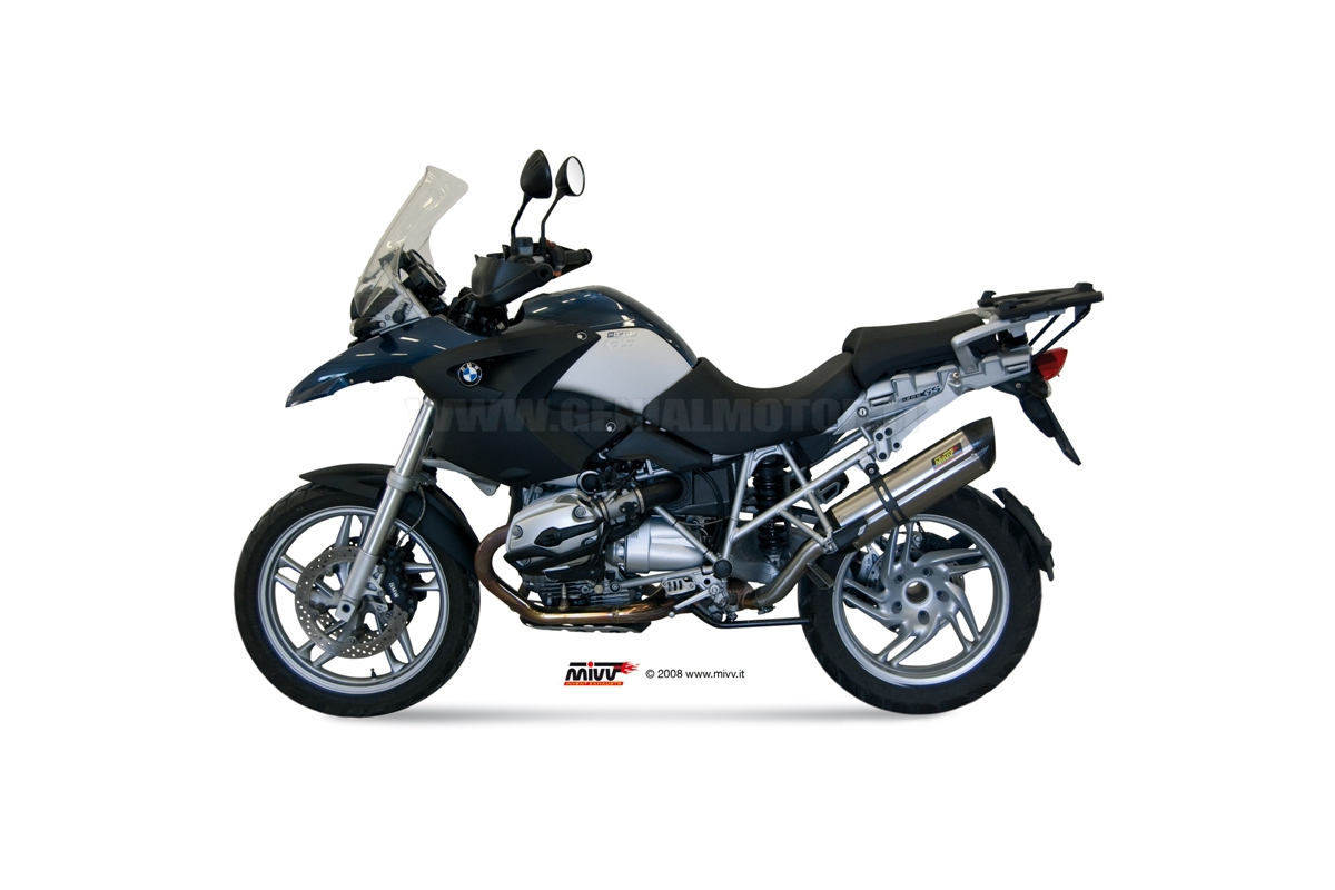 Mivv Exhaust Muffler Suono Stainless Steel for Bmw R 1200 Gs 2004 > 2007