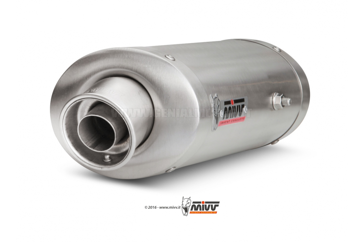 Mivv Exhaust Muffler Oval Steel Underseat for Kawasaki Zx-6 R 636 2005 > 2006