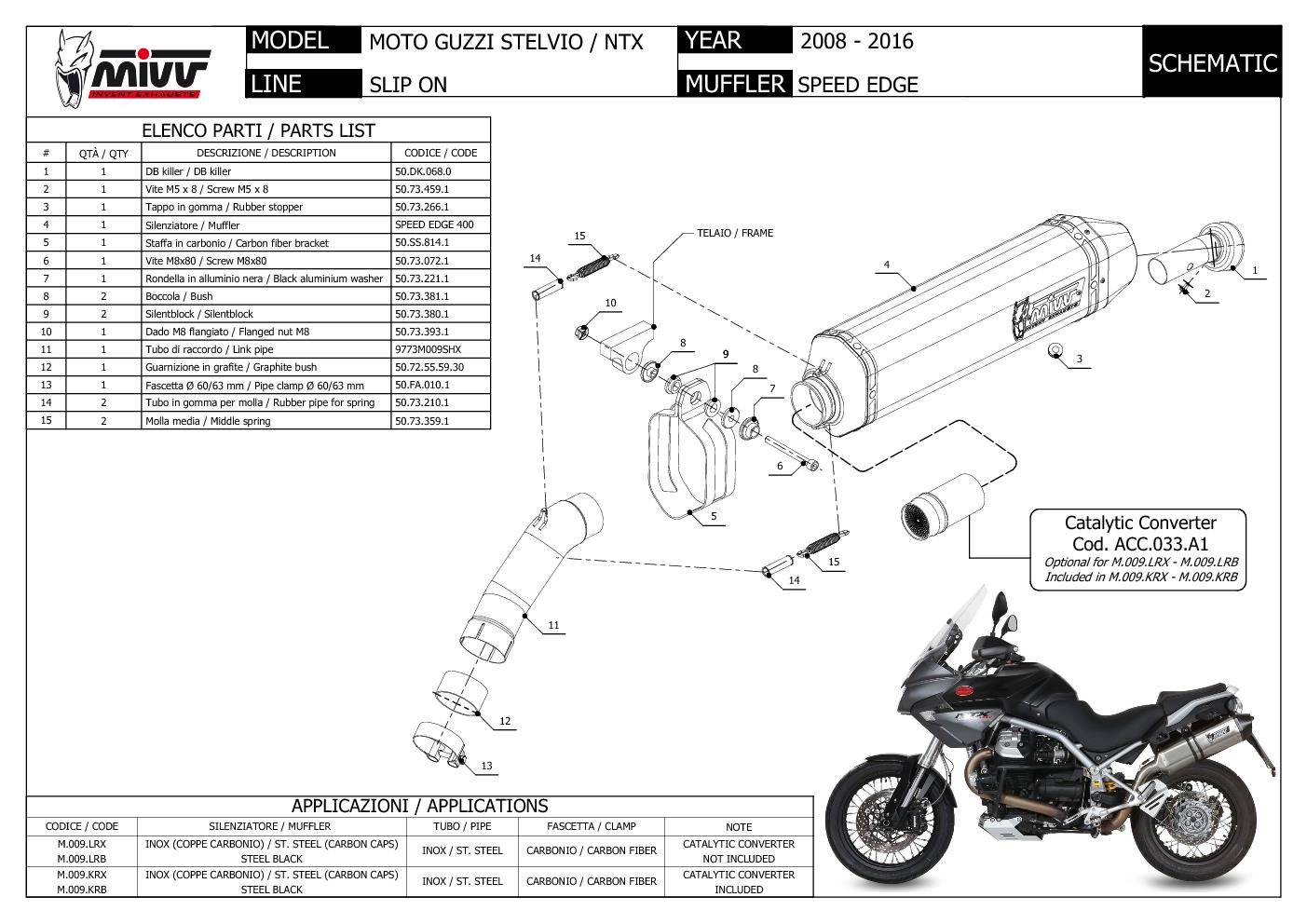 Exhaust Muffler Mivv Speed Edge Steel Moto Guzzi Stelvio 2008 08 Ebay Engine Diagram