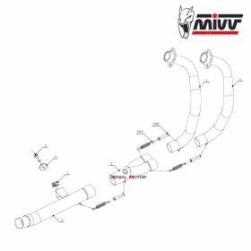 Mivv No Kat Link Pipe Downpipe Stainless Steel for YAMAHA TENERE 700 2019 > 2020