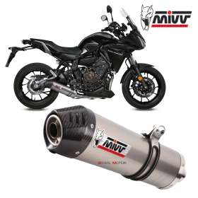 Mivv Complete Exhaust Oval Titanium With Carbon Cap for YAMAHA TRACER 700 GT 2016 > 2019