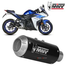 Mivv Complete Exhaust Full system Inox black for YAMAHA YZF R3 2015 > 2018