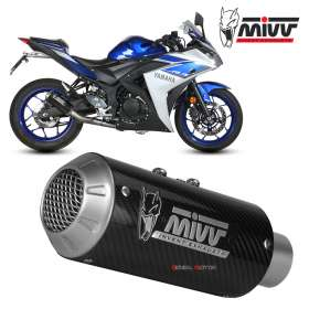 Mivv Complete Exhaust full system Carbon for YAMAHA YZF R3 2015 > 2018