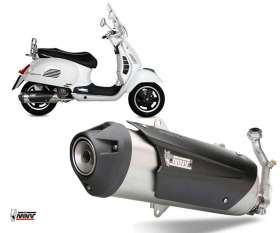 Full System Exhaust Mivv Approved Urban Steel for Piaggio VESPA GTS 300 2008 > 2016
