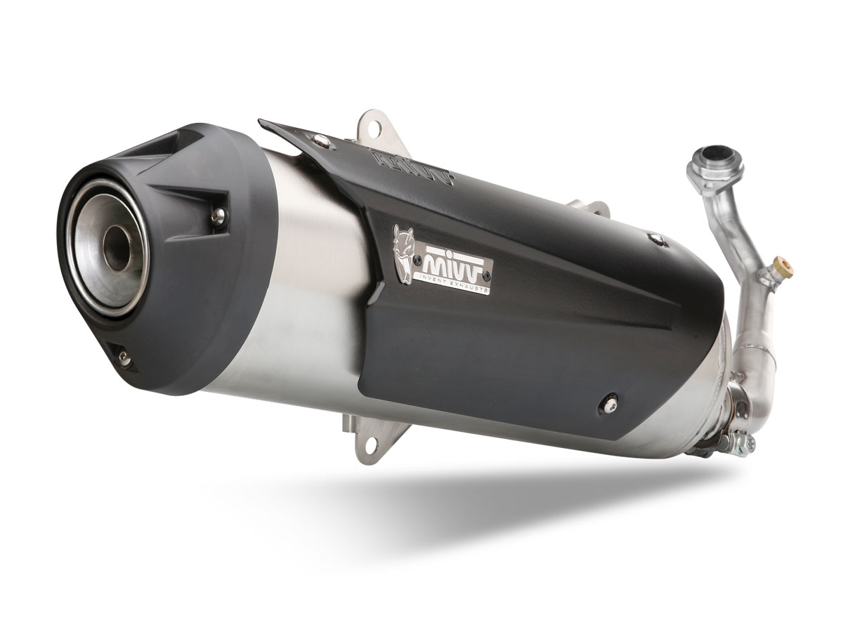 PIAGGIO BEVERLY 125 2010 10 FULL SYSTEM (KAT) MIVV EXHAUST URBAN STEEL