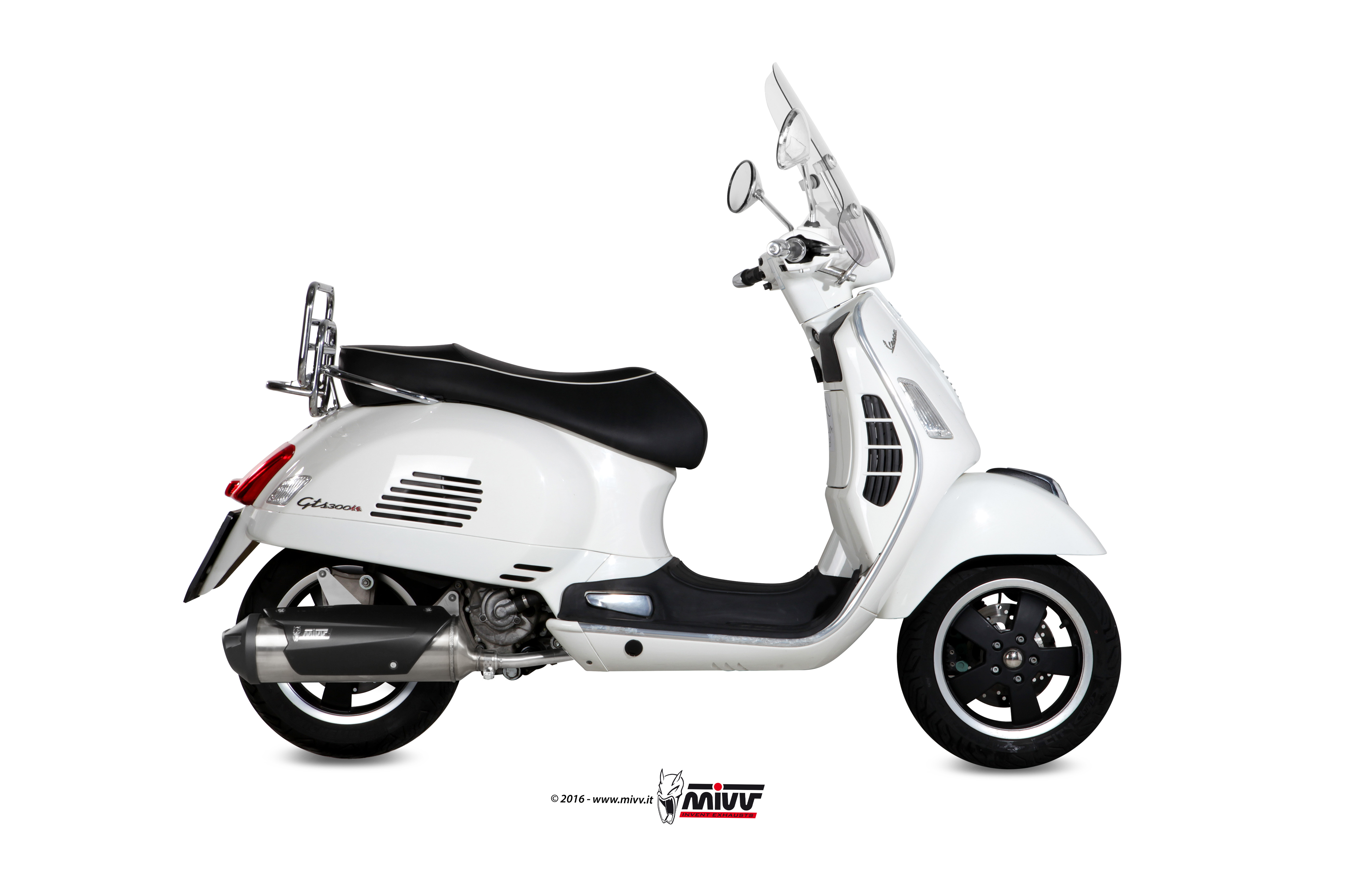 piaggio vespa gts 300 2013 xx full system mivv exhaust urban steel ebay. Black Bedroom Furniture Sets. Home Design Ideas