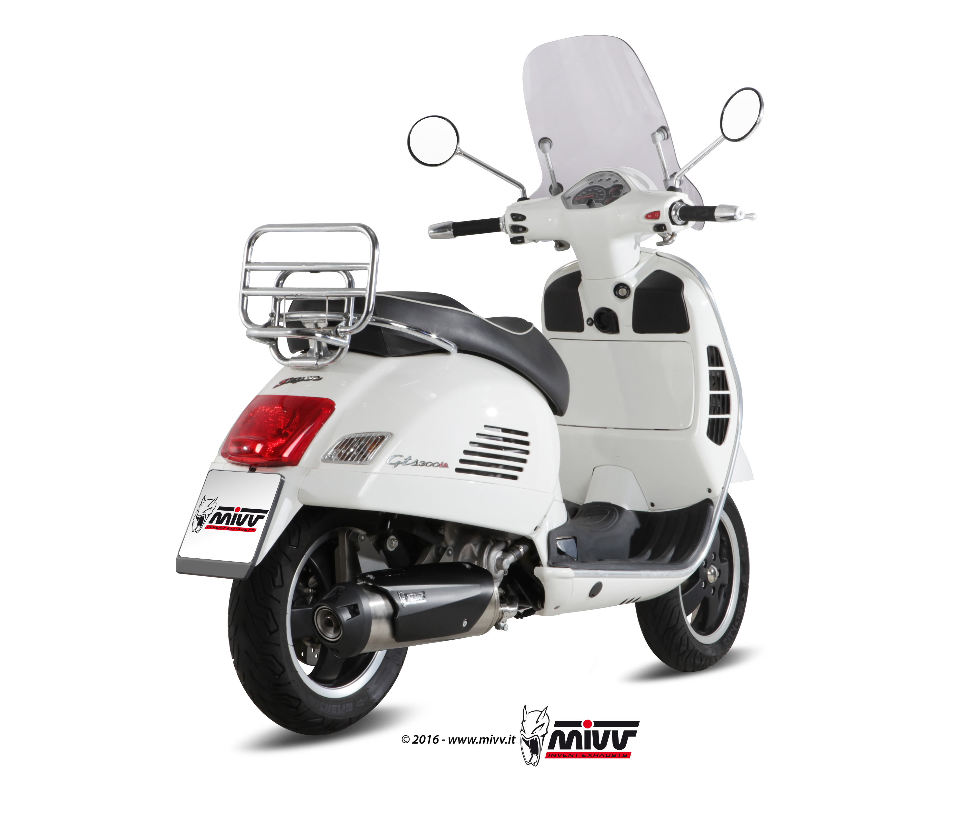 piaggio vespa gts 300 2013 xx full system mivv exhaust. Black Bedroom Furniture Sets. Home Design Ideas