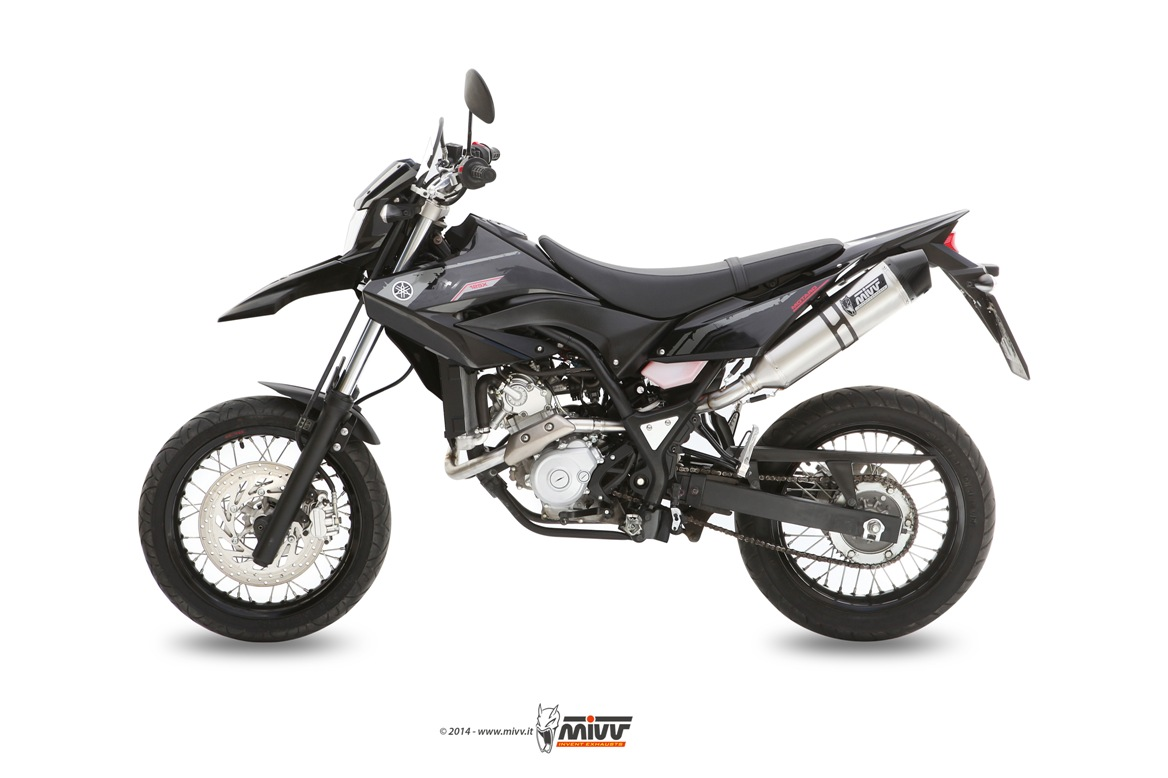 yamaha wr 125 r x 2013 13 scarico mivv terminale stronger inox ebay. Black Bedroom Furniture Sets. Home Design Ideas